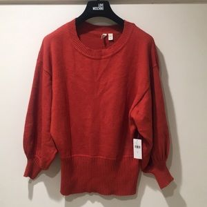 Anthropologie by Moth burnt orange pullover NWT